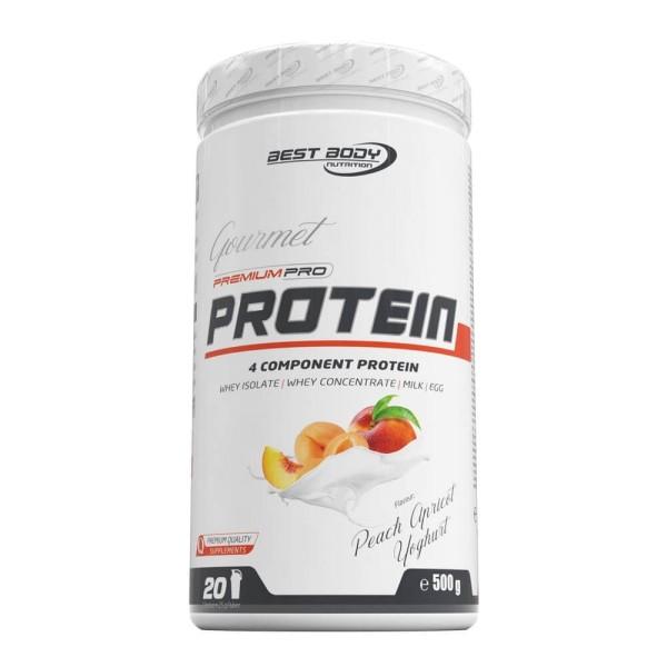 Best Body Gourmet Premium Pro Protein - Peach Apricot Yoghurt - 500 g Dose bei CardioZone günstig online kaufen