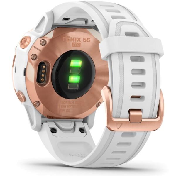 Garmin fenix6S PRO Rosegold - Armband Weiss bei CardioZone günstig online kaufen