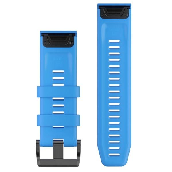Garmin Quickfit Silikon Armband 26mm Hellblau / Schnalle in Schwarz