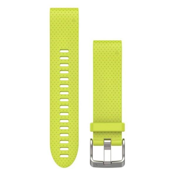 Garmin QuickFit Silikon Armband Gelb 20mm für fenix 5S
