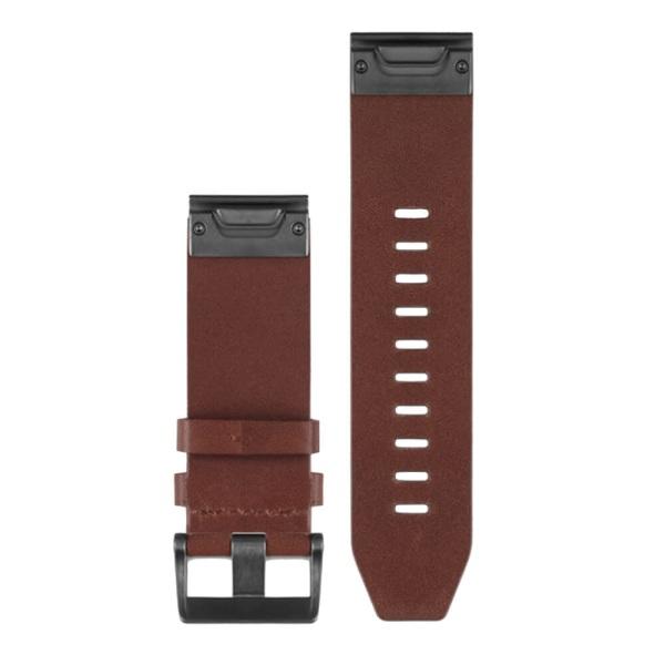 Garmin fenix 5X Garmin QuickFit Lederarmband Braun in 26mm Breite bei CardioZone guenstig online kaufen - passend auch für Garmin fenix 3